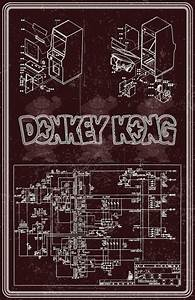 Donkey Kong Arcade Machine Wiring Diagram Poster By