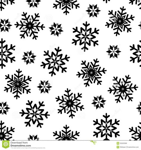 Snowflake Background Black And White by Seamless Pattern Royalty Free Stock Photos