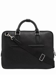Smythson Burlington Soft Leather Slim Briefcase in Black ...