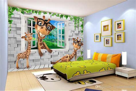 custom wallpaper  animals kids room backdrops