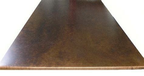 Copper counters, countertops & Table tops by The Metal Peddler