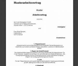 Kündigungsfrist Probezeit Berechnen : arbeitsvertrag muster download ~ Themetempest.com Abrechnung