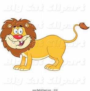 Royalty Free Cartoon Stock Big Cat Designs