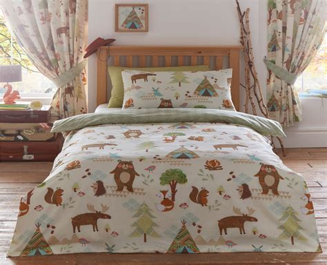Childrens Quilt Duvet Cover & Pillowcase Bedding Sets Or Matching Kids Curtains Thermal Insulated Blackout Curtain Beaded Patterns Shower Curtains Long Length Mink Silk Hanging Double Rods Aqua Green Brown Plaid Cheap Panels Online
