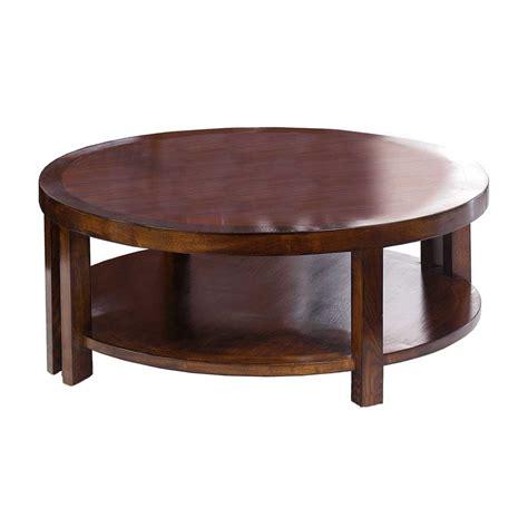 table basse ronde haut de gamme en chataignier 100 39