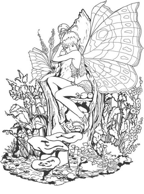 The Forbidden Fantasy Fairy World Coloring Page Adult