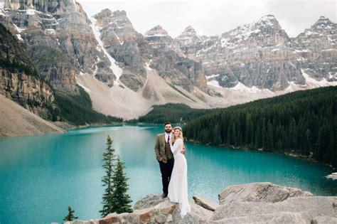lace dress moraine lake elopement rocky mountain inspiration