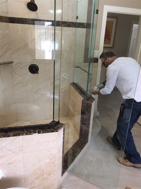 frameless neo angle shower enclosure  buttress walls