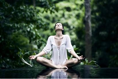 Meditation Yoga Forest Relaxing Wallpapers Timah Bukit