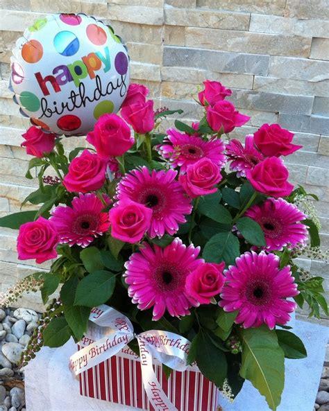Happy Birthday Roses Images Happy Birthday Roses Gerberas Five Florist