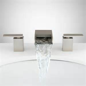 Widespread Waterfall Faucet by Signature Hardware Willis Widespread Waterfall Faucet Ebay
