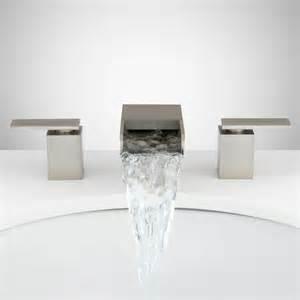 waterfall kitchen faucet waterfall widespread faucet signaturehardware