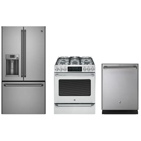 ge cafe cyetshss  cu ft french door refrigerator cgssetss  cu ft gas range
