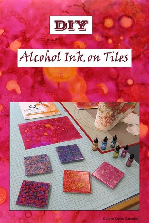 Alcohol Ink On Tiles Tutorial   Freemotion by the River