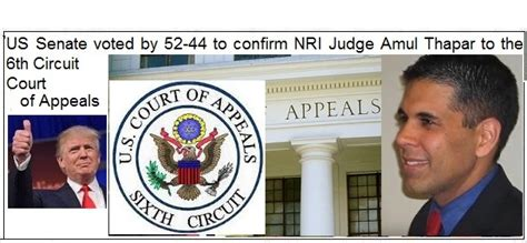 amul roger thapar appointed  elevation   appeals court