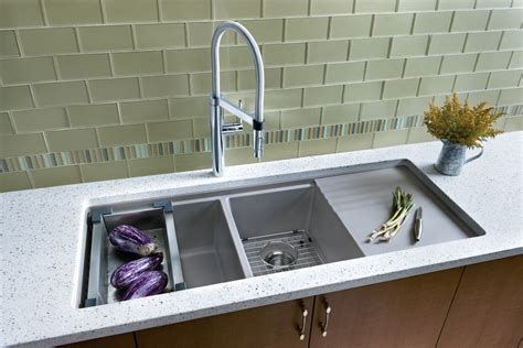 Modern Kitchen Sink by Undermount Sink With Drainboard Kitchen Contemporary With
