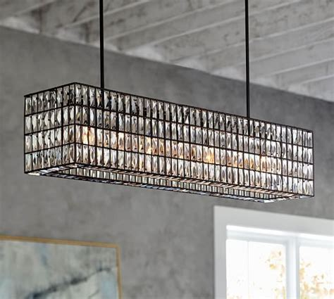 Pottery Barn Perimeter Mall by Adeline Rectangular Chandelier Randoms