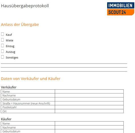 Kaufvertrag Garage Auf Pachtgrundstück by Haus 252 Bergabeprotokoll Mustervorlage F 252 R Haus 252 Bergabe Als