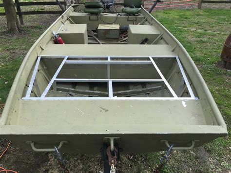 How To Build Aluminum Boat Floor by My Jon Boat Build Boat Stuff Boat Building