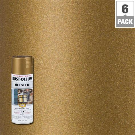 rust oleum stops rust  oz metallic champagne bronze