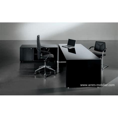 fabricant italien de canapé bureau de direction tiper en verre et bois noir par frezza