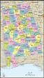 Detailed Political Map of Alabama - Ezilon Maps