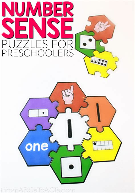 printable number sense puzzles from abcs to acts 268 | Number Sense Puzzles for Preschoolers and Kindergartners
