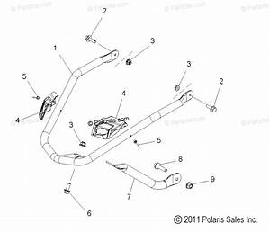 Polaris Snowmobile 2015 Oem Parts Diagram For Body  Bumper