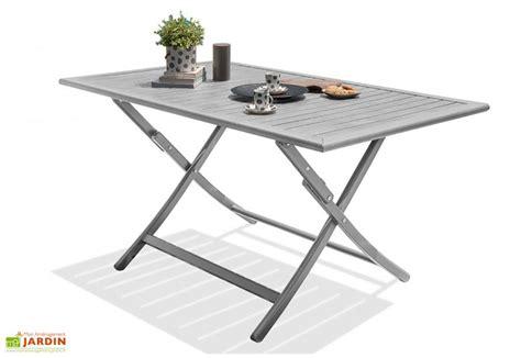 table jardin pliante table de jardin pliante marius 140x80 alumob