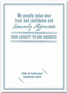 Thank You cards with slots for business card Business