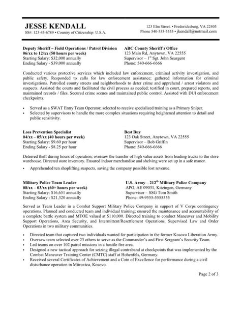 Government Resume Template by Cv Template Government Government Cv Sles