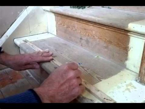 easy way to stop some squeaky timber stairs this tutorial shows marking the riser on tread