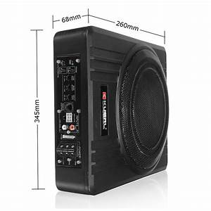 Kuerl 10 Inch 600w Power Under Seat Enclosed Car Subwoofer