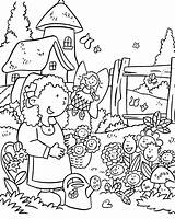 Coloring Pages Garden Flower Print sketch template