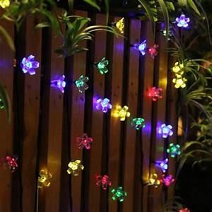 Guirlande Lumineuse Jardin : guirlande lumineuse ext rieur solaire f e lumi re 7 m multi couleur 50 led fleurs clairage ~ Melissatoandfro.com Idées de Décoration