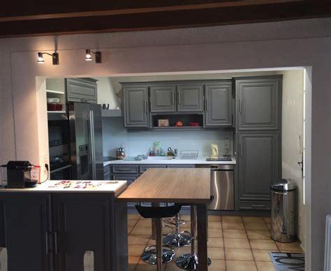 cuisine bois peint placard cuisine moderne superbe mlange rustique meubles