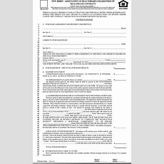 Free New Jersey Association Of Realtors Standard Form Of Real Estate Contract  Pdf  219kb 5