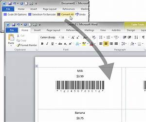 create code 39 barcode labels with mail merge With create barcode in word