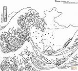 Coloring Wave Tsunamis Science Tsunami Earthquakes Kamigawa Detection sketch template