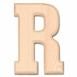 8 in pine wood letter r kids pinterest With pine letters