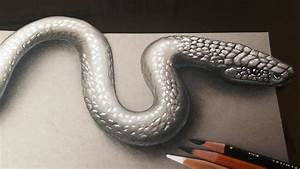 How to Draw a Realistic 3D Snake - 3D Art Kids and Adults ...