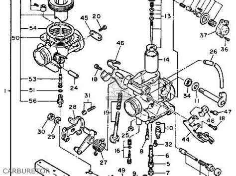 1989 yamaha xt 600 parts wiring diagram and fuse box