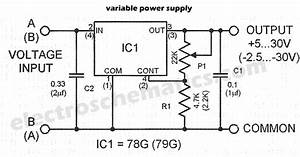 ua78g ua79g variable power supply circuit diagram With variable 4 a 25v power supply