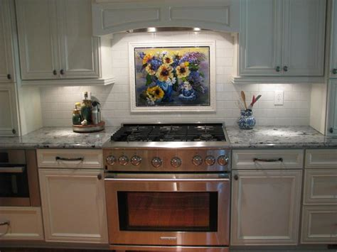 picture tiles for kitchen tea cup floral kitchen backsplash in fused glass 4194