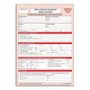 corgidirect minor electrical works certificate cp22 With minor electrical installation works certificate template