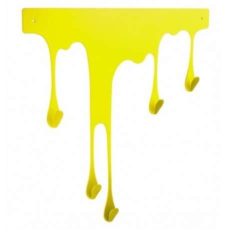 porte torchon cuisine mural portemanteau mural jaune design pulpo drop l