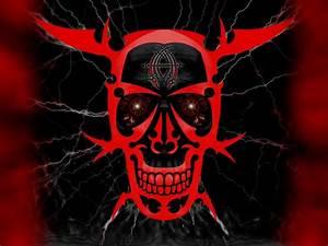 Red Skull Devil Smile HD Wallpaper