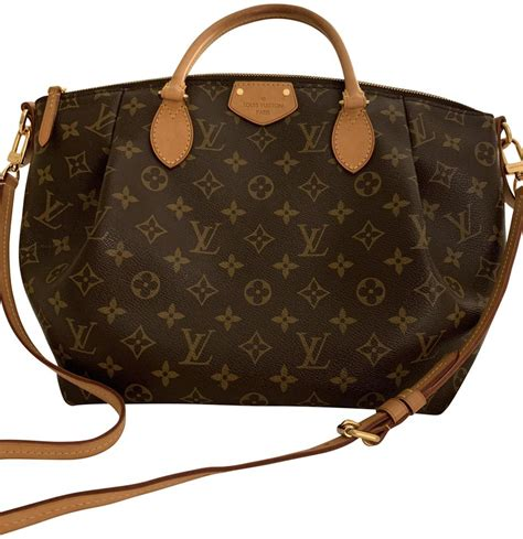 louis vuitton turenne top handle bag crossbody  coated  option browntan monogram canvas