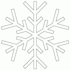 small snowflake template snowflake templates winter activities for children snowflake