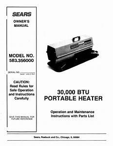 Sears 583 356 User Manual
